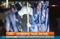 Halk otobüsünde kadına taciz anları kameraya yansıdı