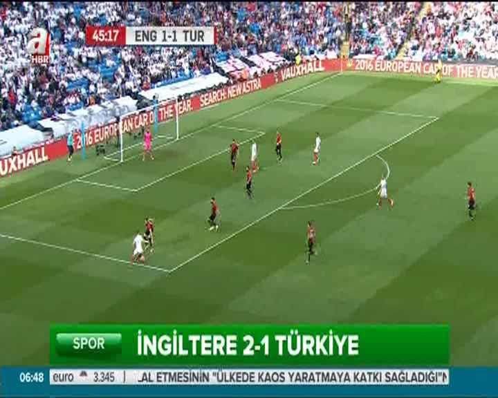 İngiltere 2-1 Türkiye (Özet)