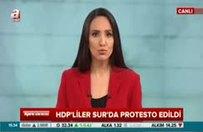 HDP'liler Sur'da protesto edildi