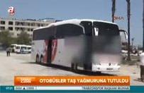 Otogara girmeyen otobüsler taşlandı
