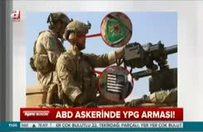 ABD askerinde YPG arması!