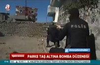 Parke taş altına bomba düzeneği