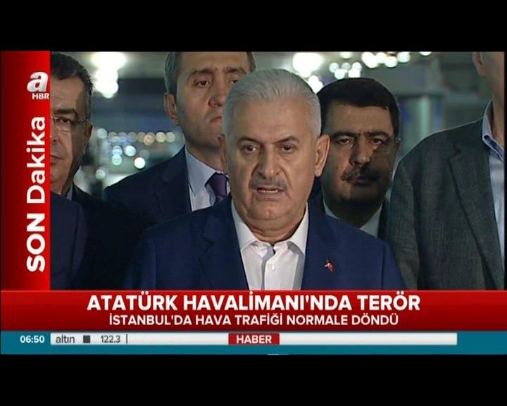 Başbakan Yıldırım saldırı ile ilgili açıklamalarda bulundu