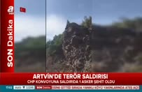 CHP konvoyuna saldırı anları kamerada!
