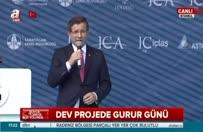 Ahmet Davutoğlu köprü açılışında konuştu
