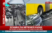 Metrobüs kazası: A Haber olay yerinde