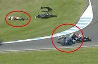 Motor yarışında facianın eşiğinden dönüldü