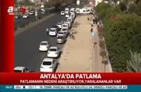 Antalya'da patlama! Emniyet Müdürü açıklama yaptı