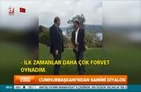 """Cumhurbaşkanı, """"futbolcu Erdoğan'ı"""" anlattı"""