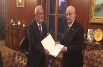 Anayasa değişikliği teklifi Meclis Başkanına sunuldu