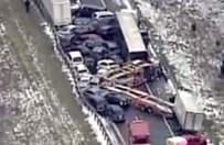 ABD'de 40 araç birbirine girdi
