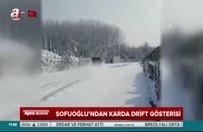 Kenan Sofuoğlu'ndan karda drift şov