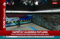 Diyarbakır'da patlama! A Haber muhabiri detayları aktardı