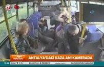 Antalya'daki kaza anı kamerada