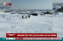 Mehmetçik'ten Hakkarili çocuklara kayak dersi