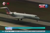 Uçağa geyik çarptı!