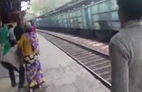 Yük treninin altından sapasağlam çıktı