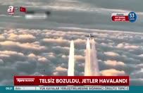 Jetler yolcu uçağı için havalandı
