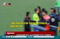 Amatör maçta taraftar hakeme saldırdı