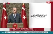 Erdoğan: Manşetlerle çarpışarak bugünlere geldik