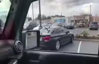 Kötü park eden BMW'nin hakkından cip geldi