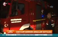 Adana'da itfaiye ekipleri can kurtarırken araçları soyuldu