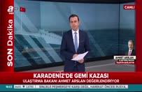 Bakan Arslan'dan Kilyos'ta batan Rus savaş gemisi hakkında açıklama