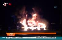 Park halindeki 7 otobüs yandı