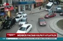 Bursa'da korku dolu anlar! Midibüsün freni patladı