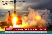 Yazıcıyla üretilen roket uzayda