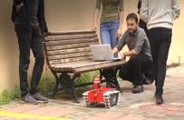 Yangınla mücadele robotu üretildi