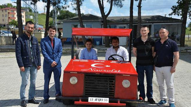 2 bin TL maliyetle 80 km hız yapan araç yaptılar