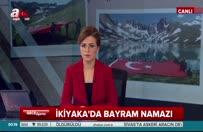 Türk bayrağı eşliğinde namaz