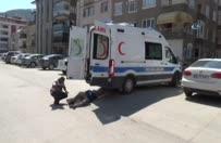 Hasta nakil ambulansında patlama