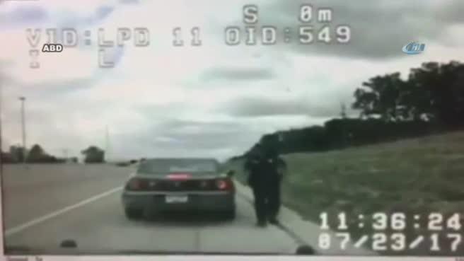 Otomobil polis aracına böyle çarptı