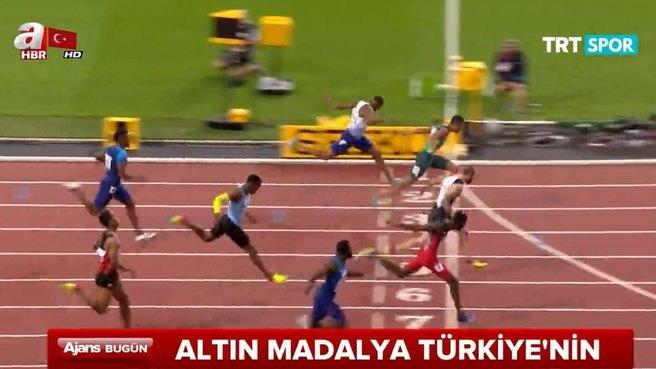 Altın madalya Türkiye'nin..! İşte tarihi görüntüler